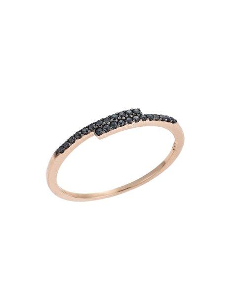 Σειρέ Ροζ Χρυσό Δαχτυλίδι 14Κ με Ζιργκόν c4511152ec4